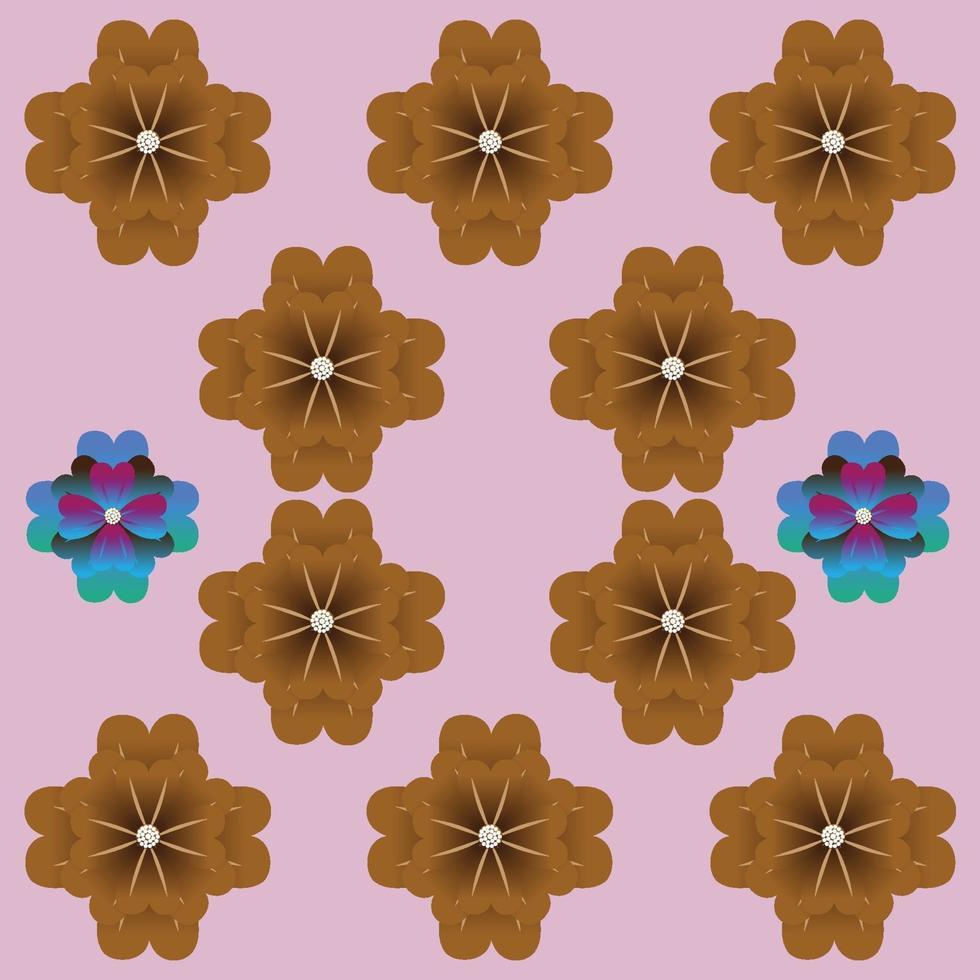 fiori bellissimo modello astratto disegno vettoriale