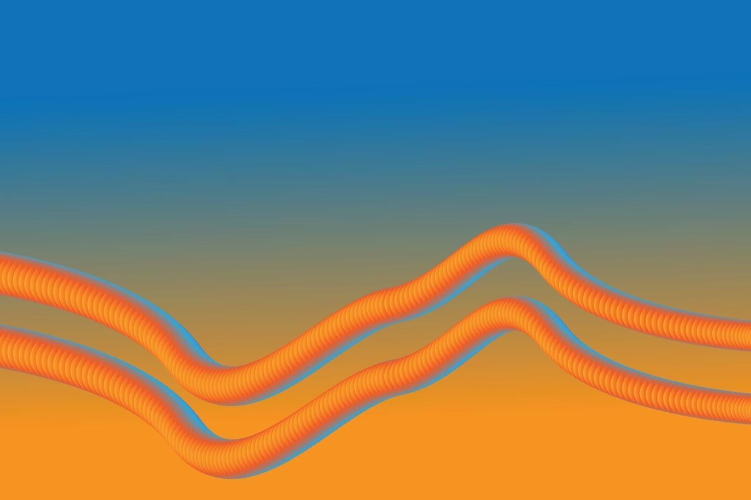 sfondo astratto arancione e blu si fondono vettore