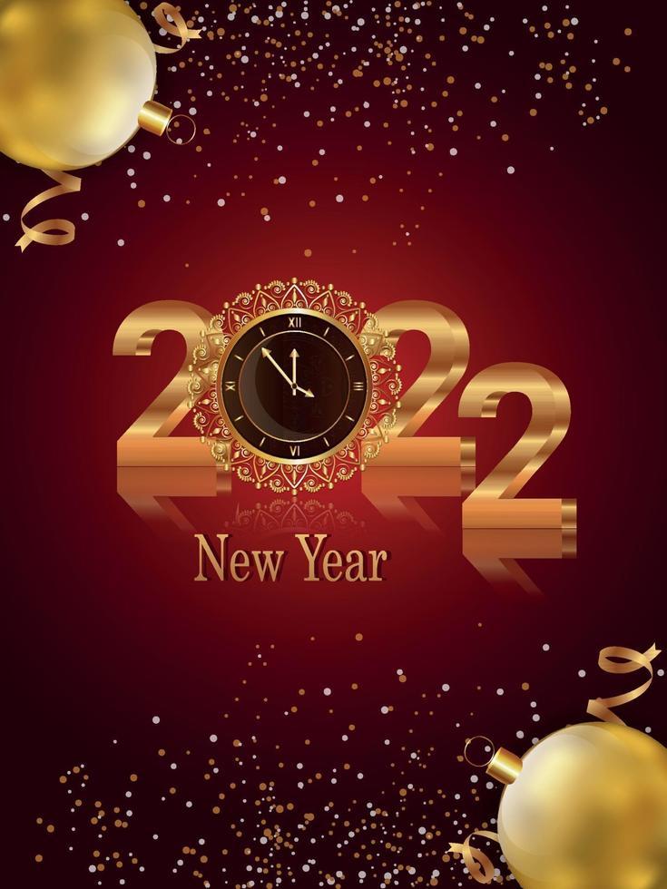 biglietto di auguri di felice anno nuovo invito vettore
