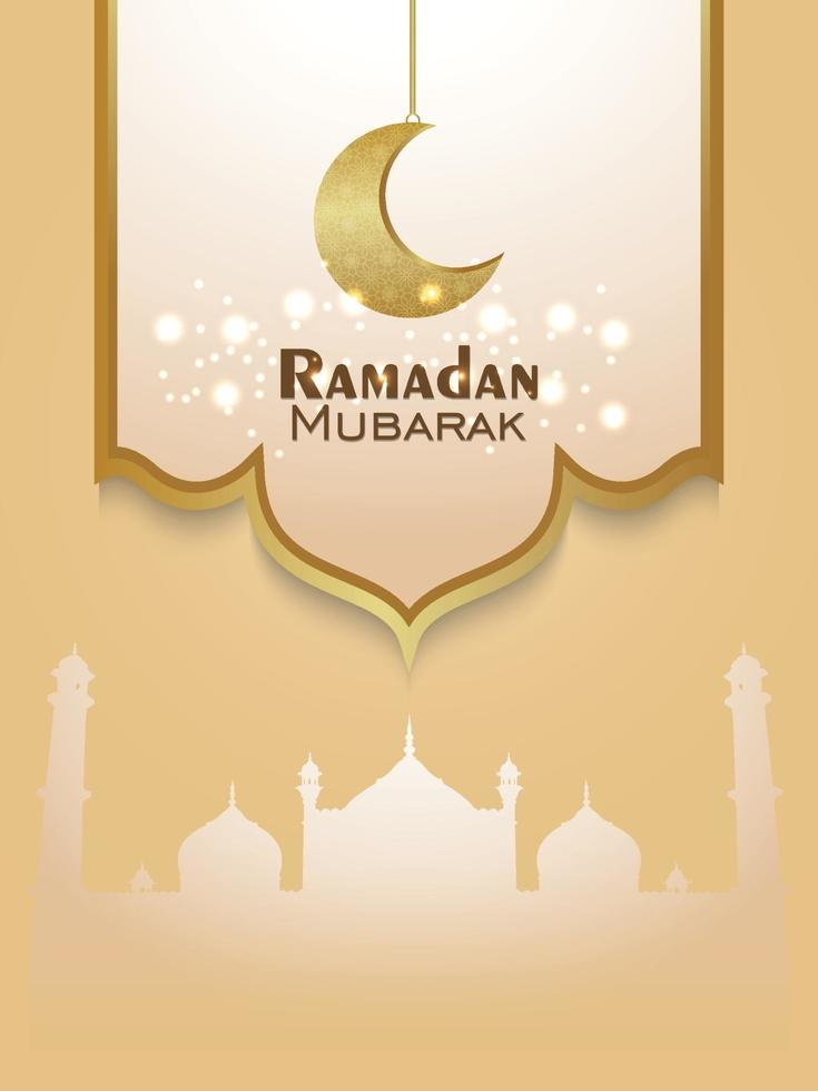 vettore elegante ornamento del biglietto di auguri invito festival islamico di ramadan kareem con sfondo creativo