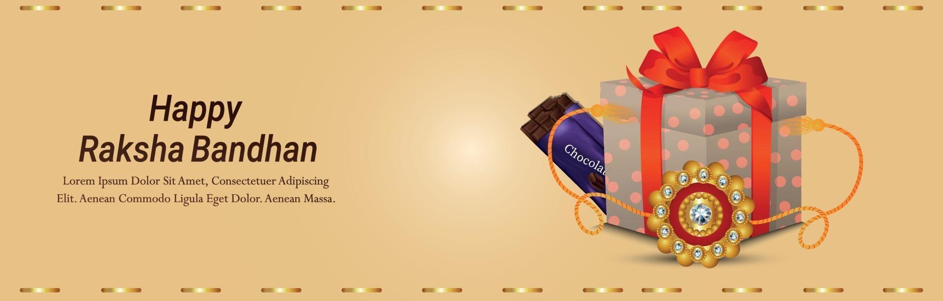 illustrazione vettoriale creativo di felice biglietto di auguri invito raksha bandhan