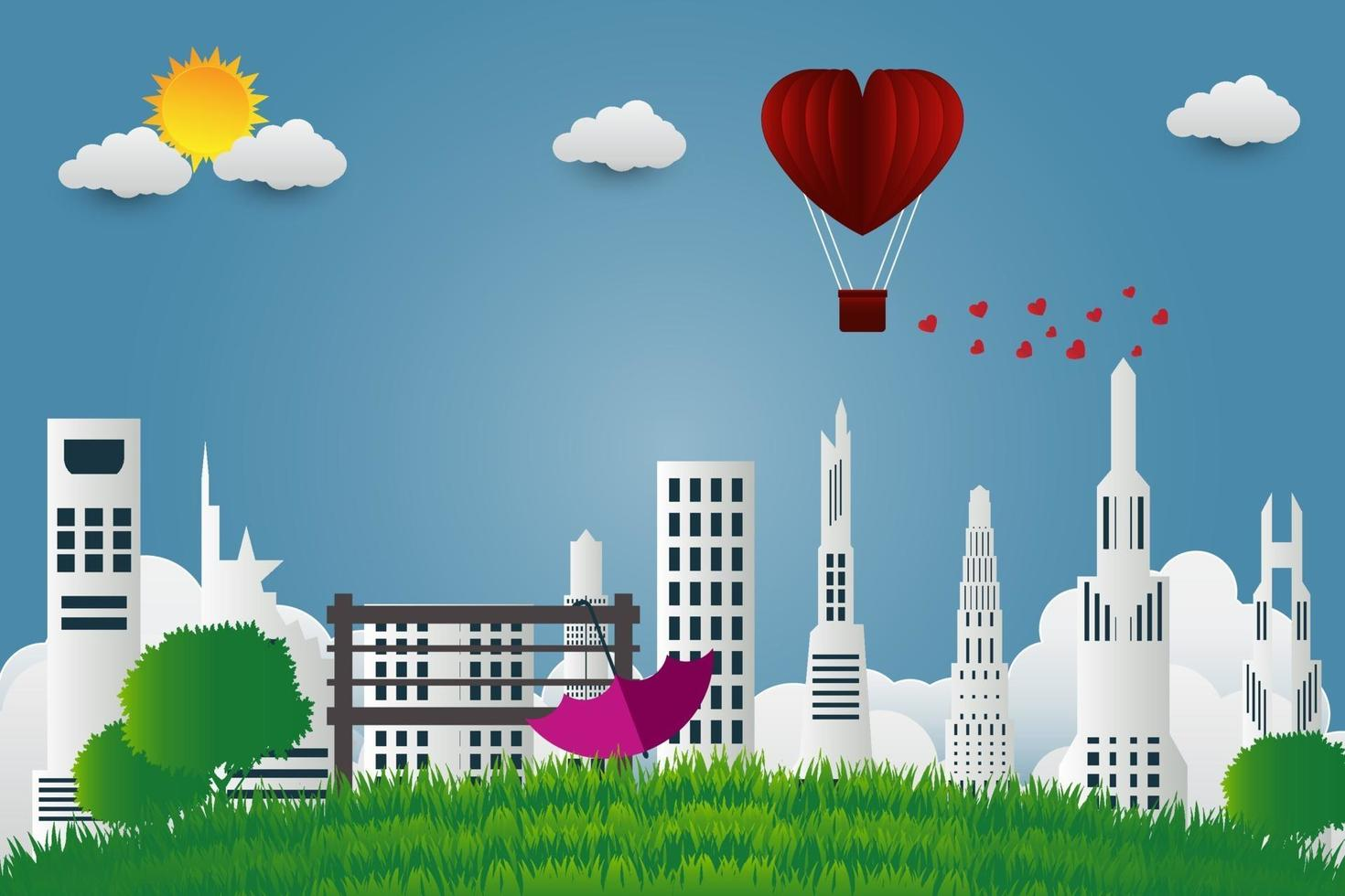 scena urbana di San Valentino vettore