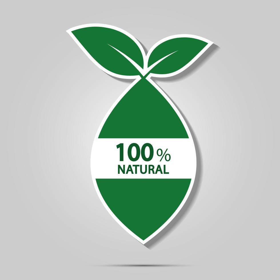 icona di energia verde eco vettore