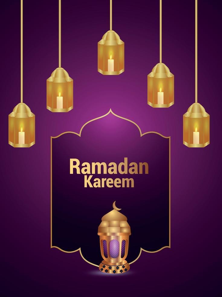 sfondo di invito festival islamico di ramadan kareem vettore