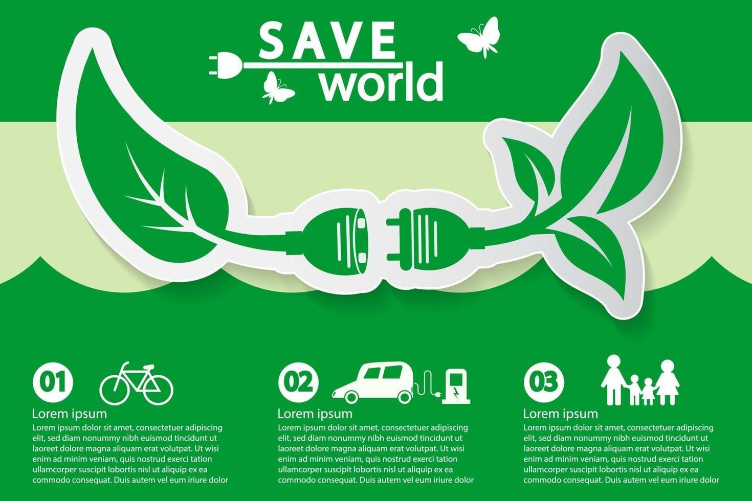 modello di banner concetto ecologico vettore