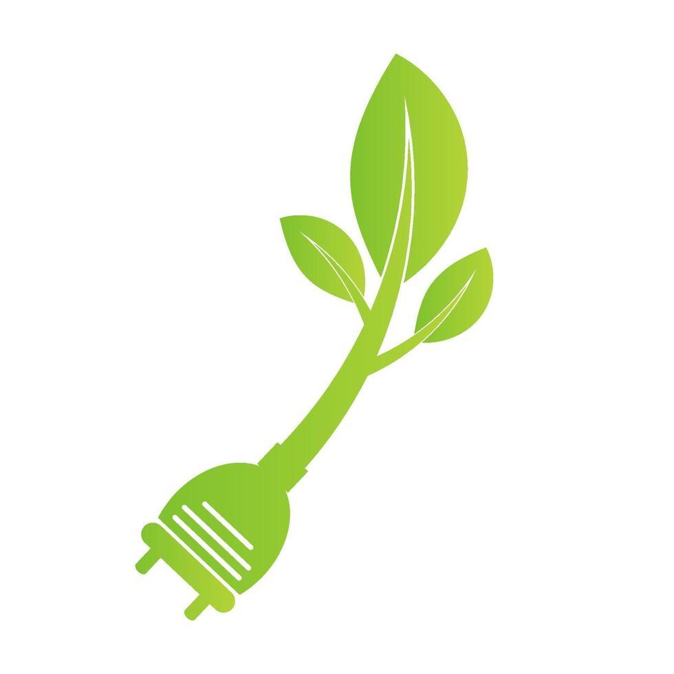 spina di alimentazione ecologica vettore