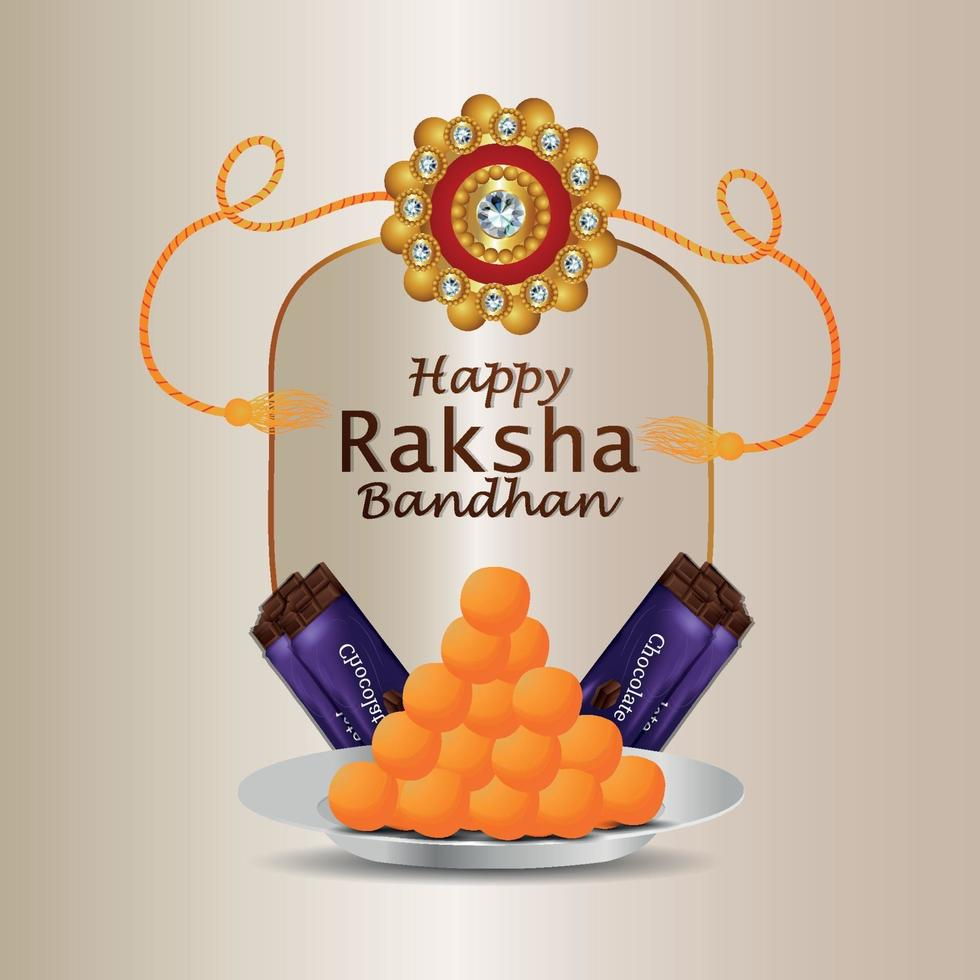illustrazione vettoriale di felice raksha bandhan celebrazione biglietto di auguri
