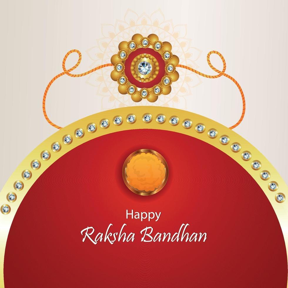 illusration creativo di vettore della cartolina d'auguri felice di celebrazione di raksha bandhan
