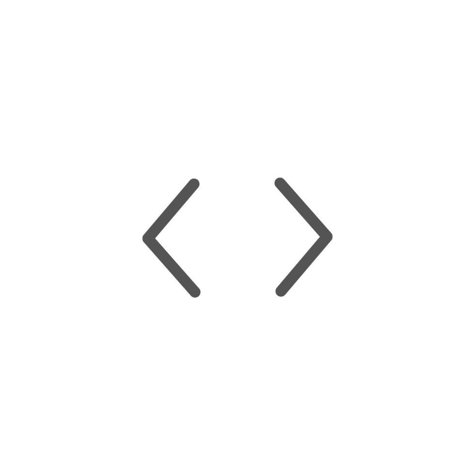 parentesi graffe carattere isolato icona vettore