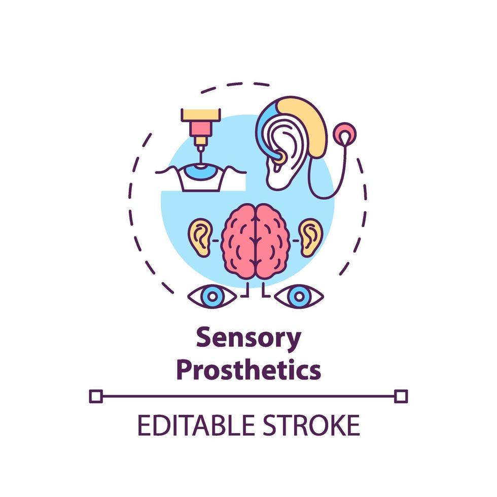icona del concetto di protesi sensoriali vettore