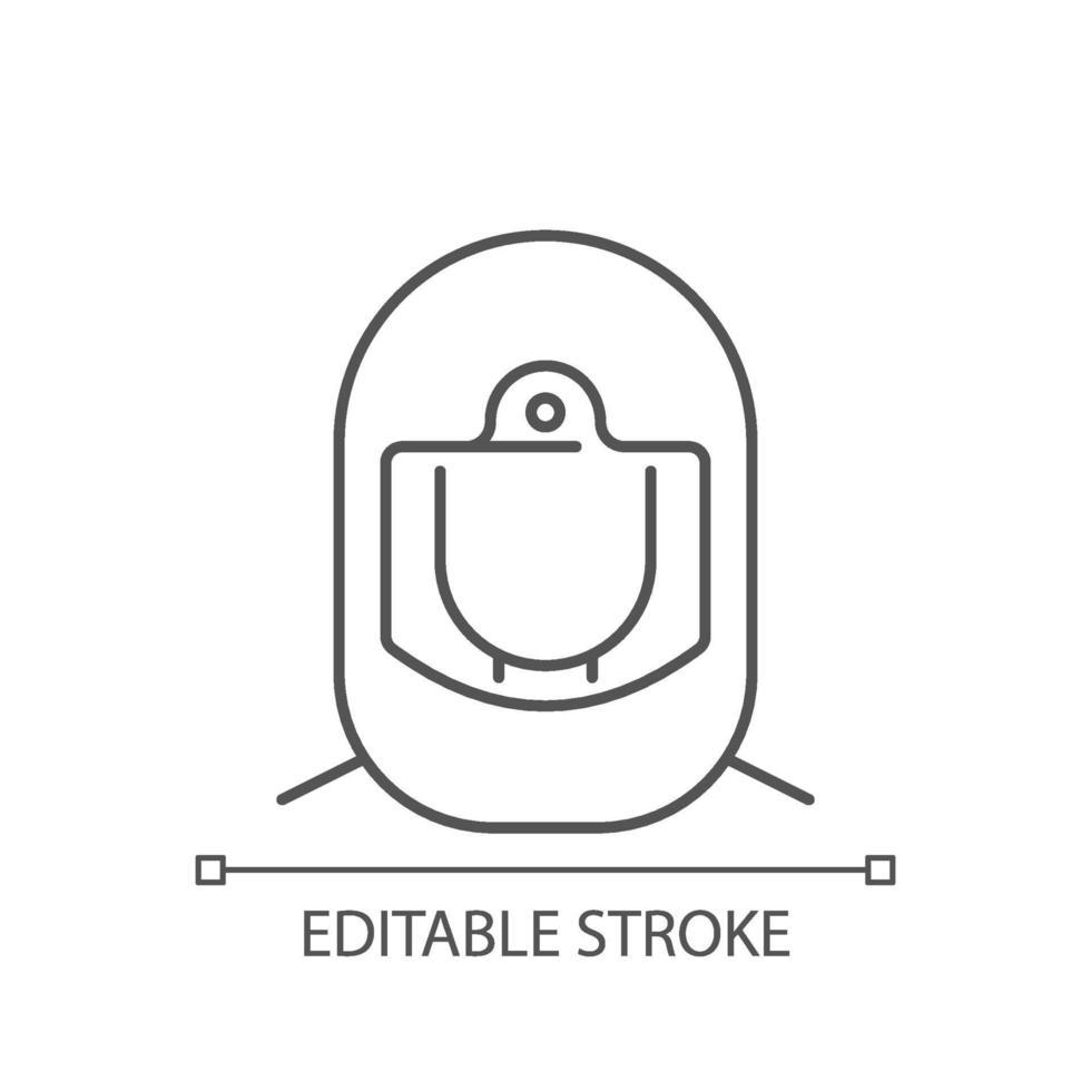icona lineare del casco chirurgico vettore