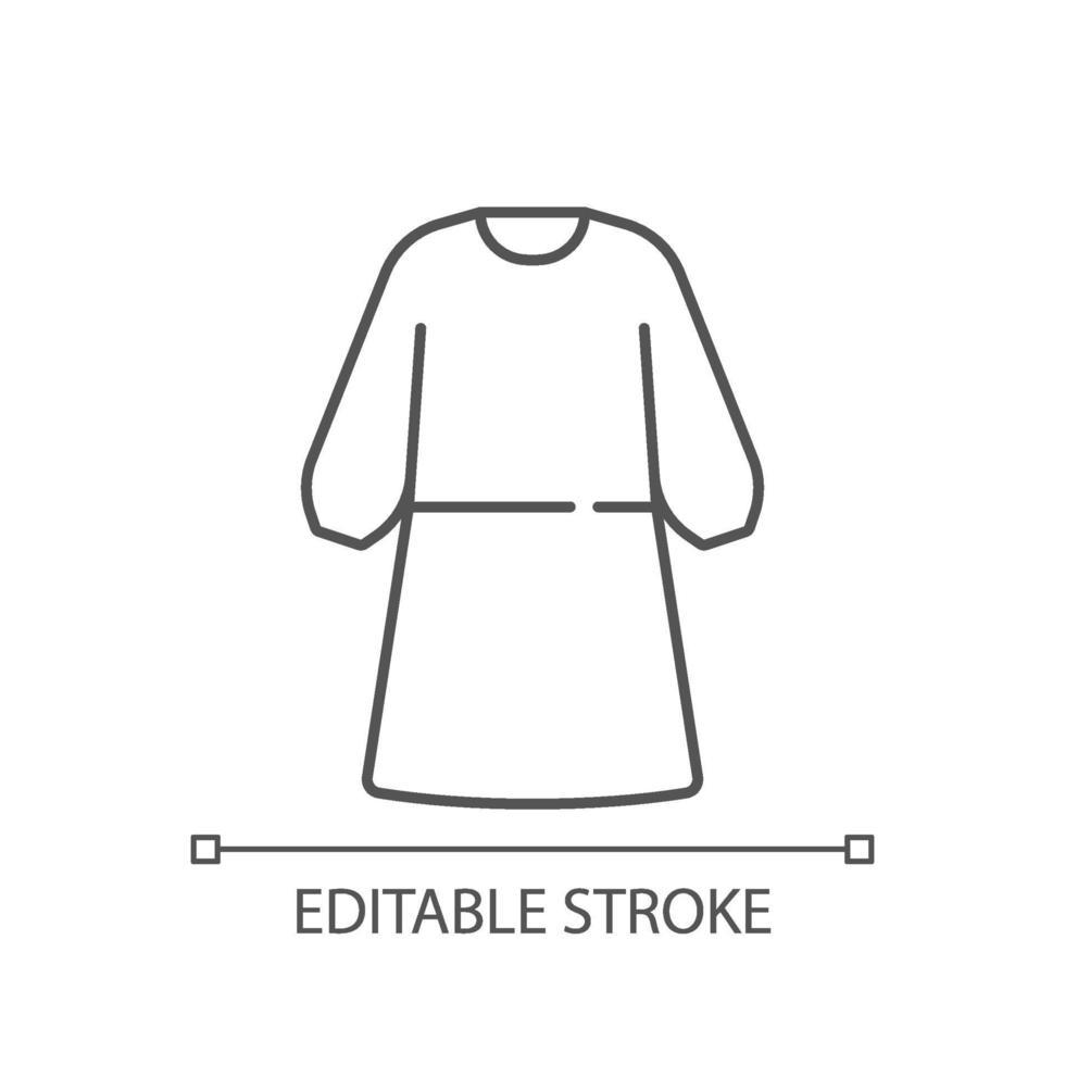 icona lineare di isolamento abito vettore