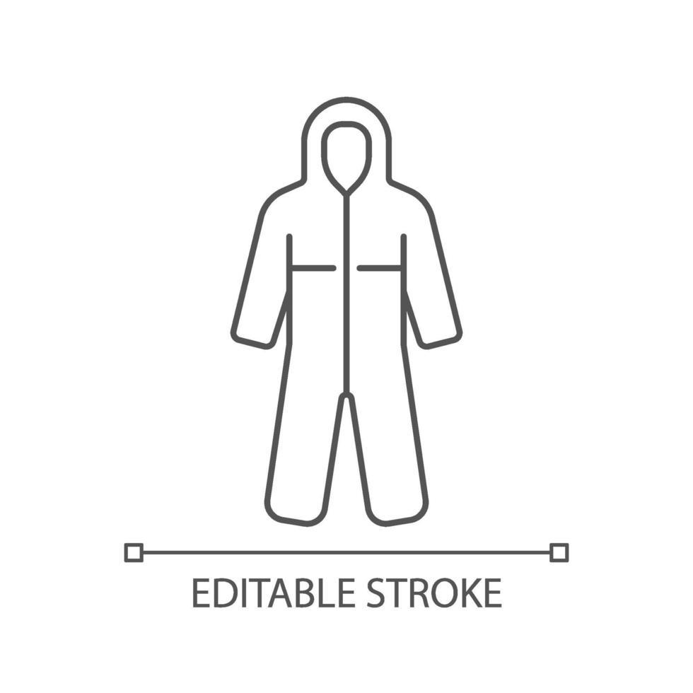 icona lineare di tute mediche vettore