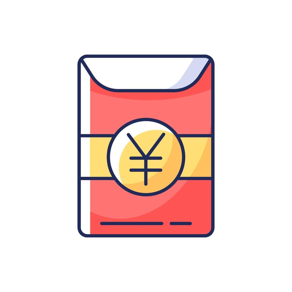 hong bao rgb icona a colori vettore
