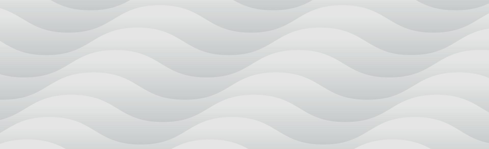 sfondo panoramico vettoriale bianco con linee ondulate e ombre