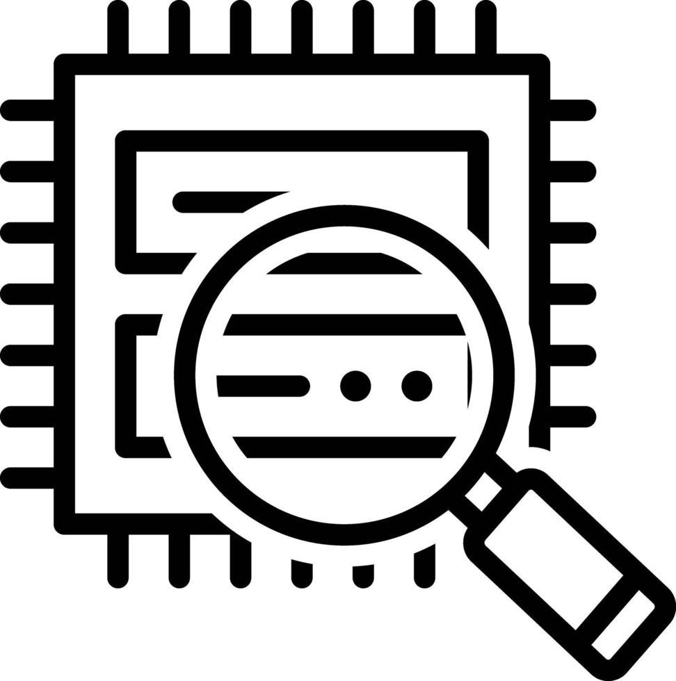 icona linea per l'analisi dei dati vettore