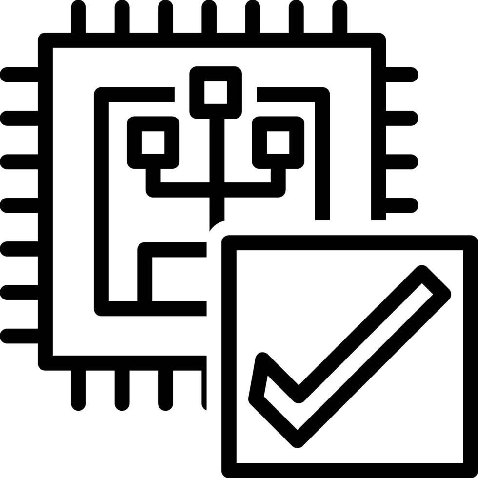icona della linea per la verifica vettore