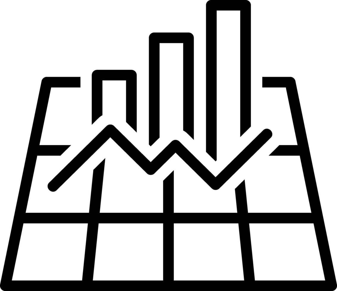 icona della linea per il grafico vettore