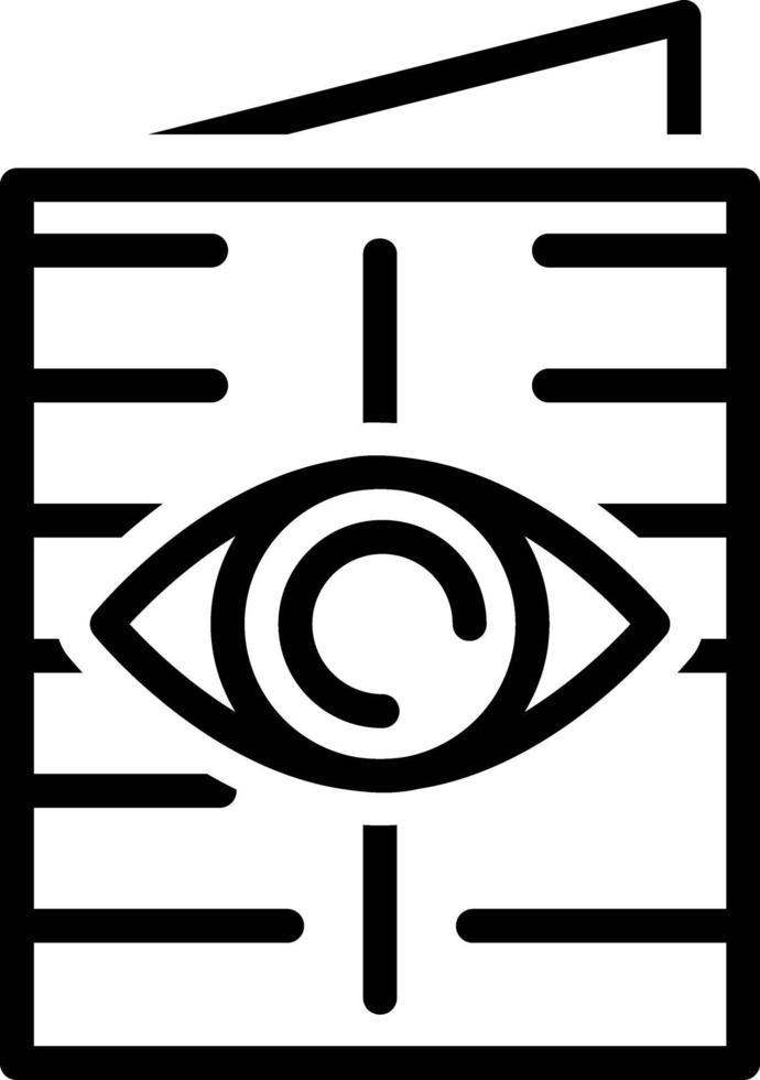 icona linea per sola lettura vettore