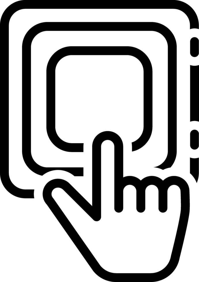 icona della linea per il pulsante vettore