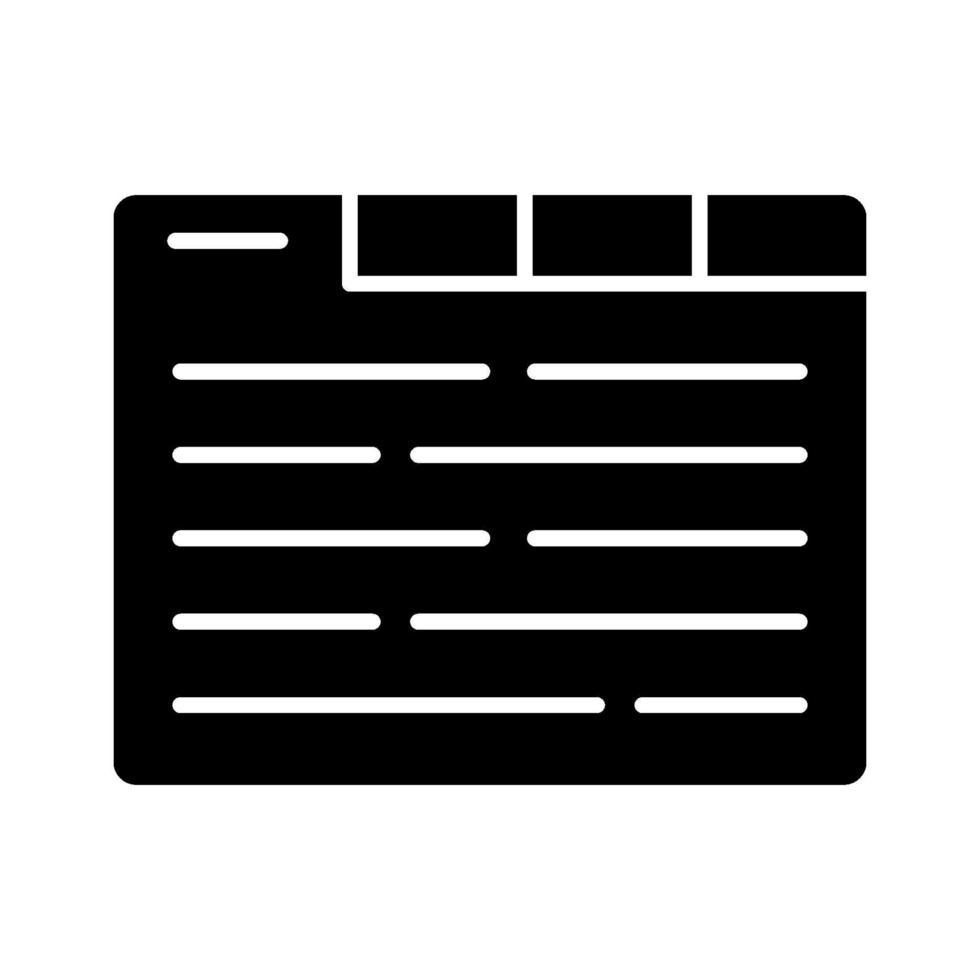 icona delle schede del browser vettore