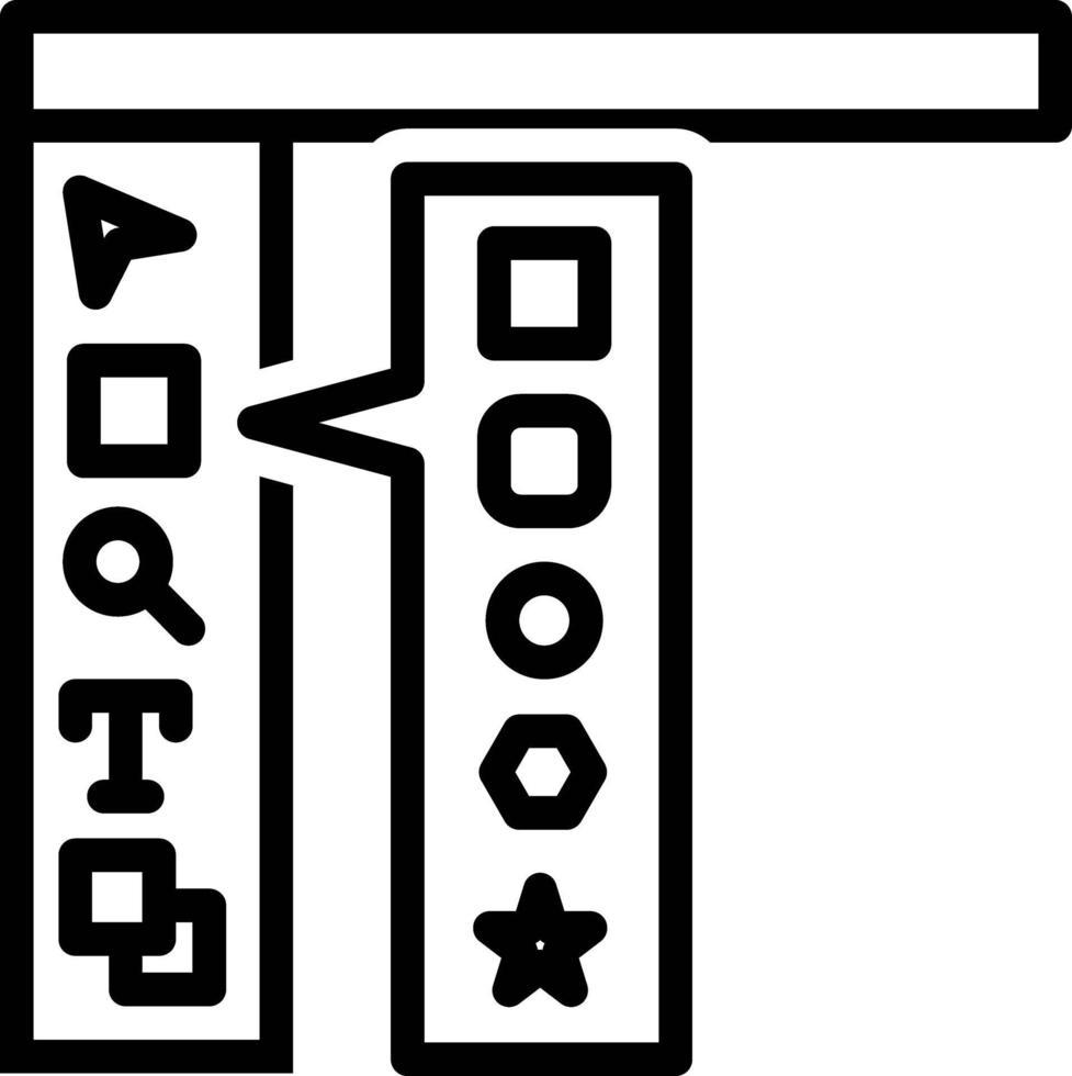 icona della linea per la barra degli strumenti vettore