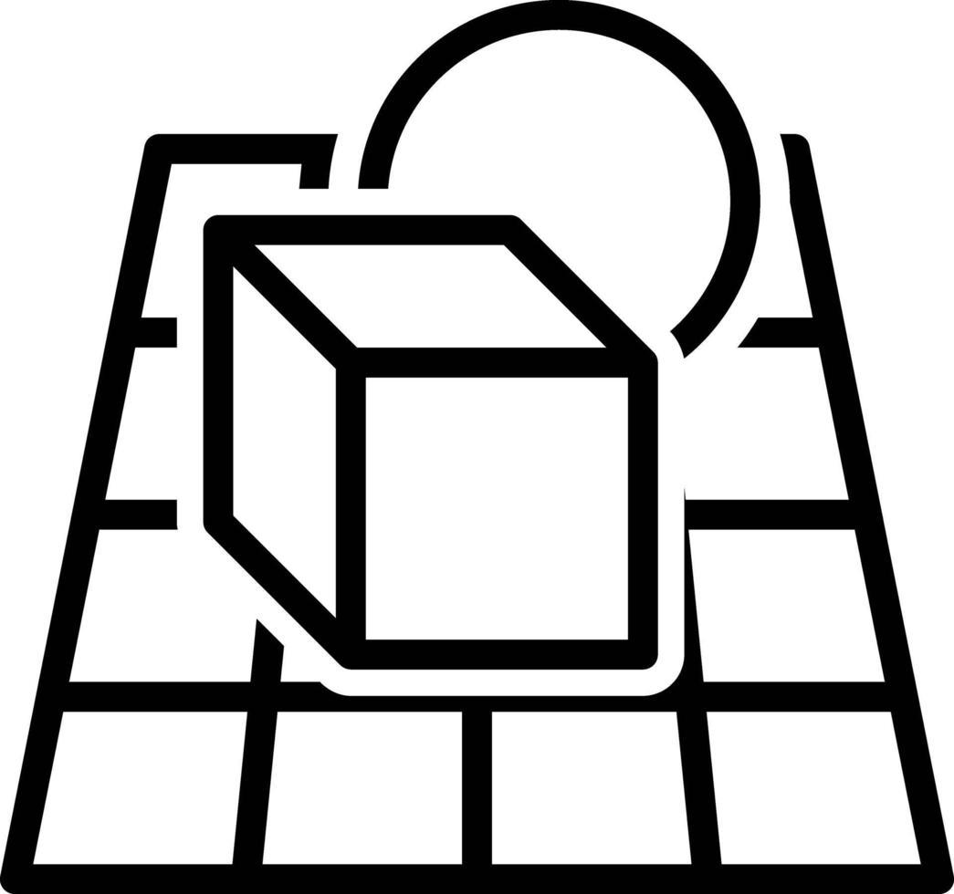 icona linea per alpha blending vettore