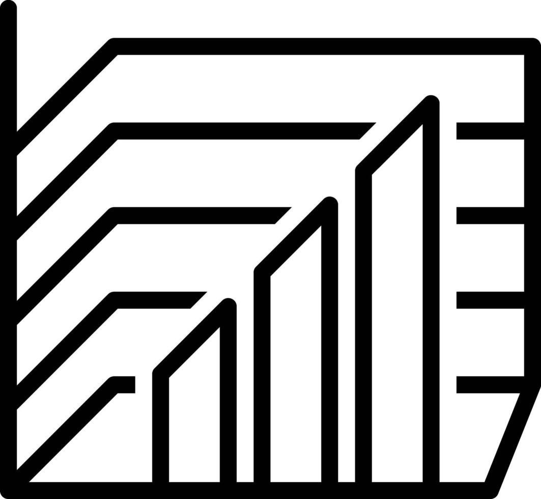 icona linea per diagramma grafico vettore