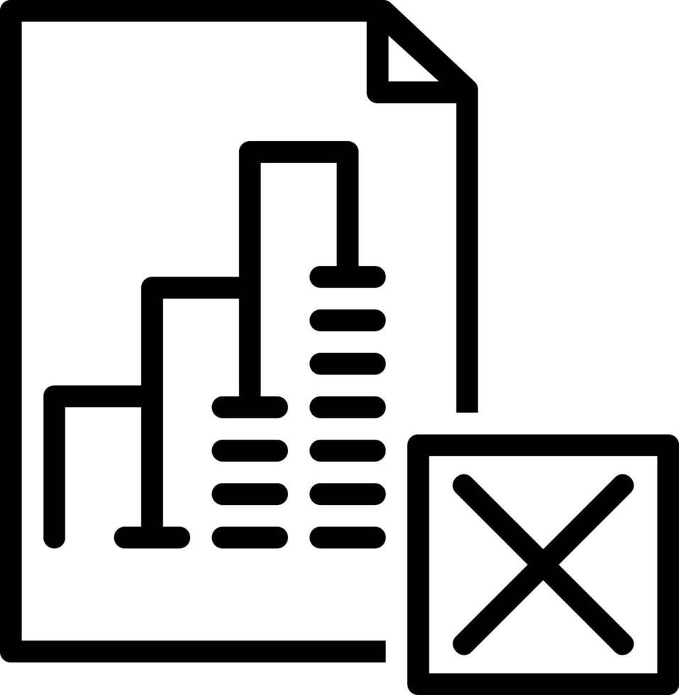 icona della linea per l'eliminazione del rapporto vettore