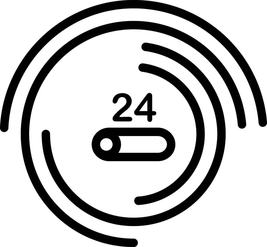 icona della linea per l'indicatore di avanzamento vettore