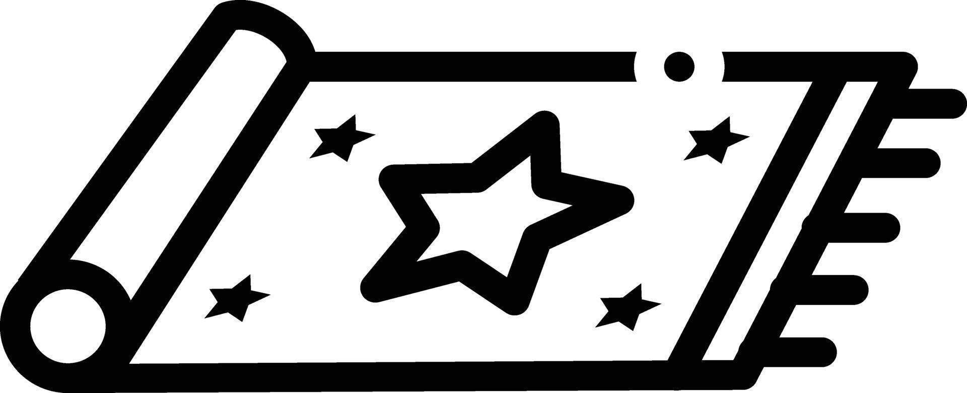 icona linea per tappeto vettore