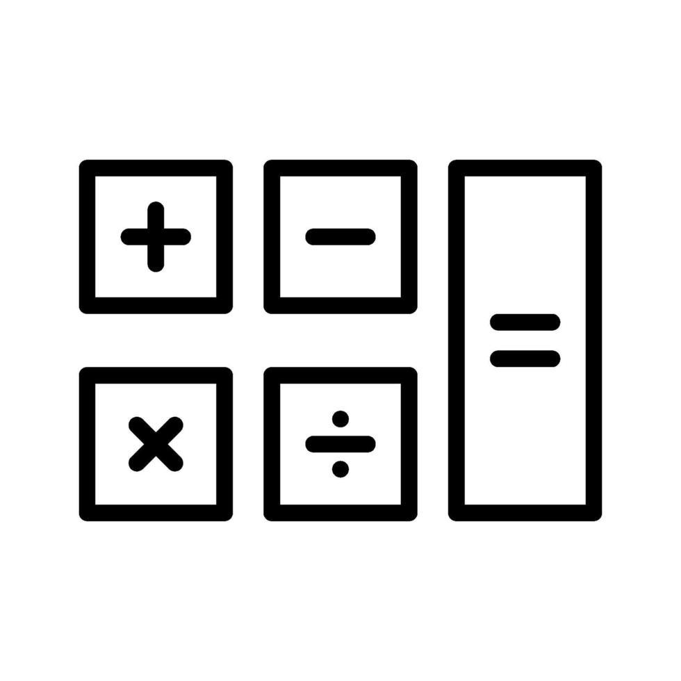 icona di vettore del calcolatore