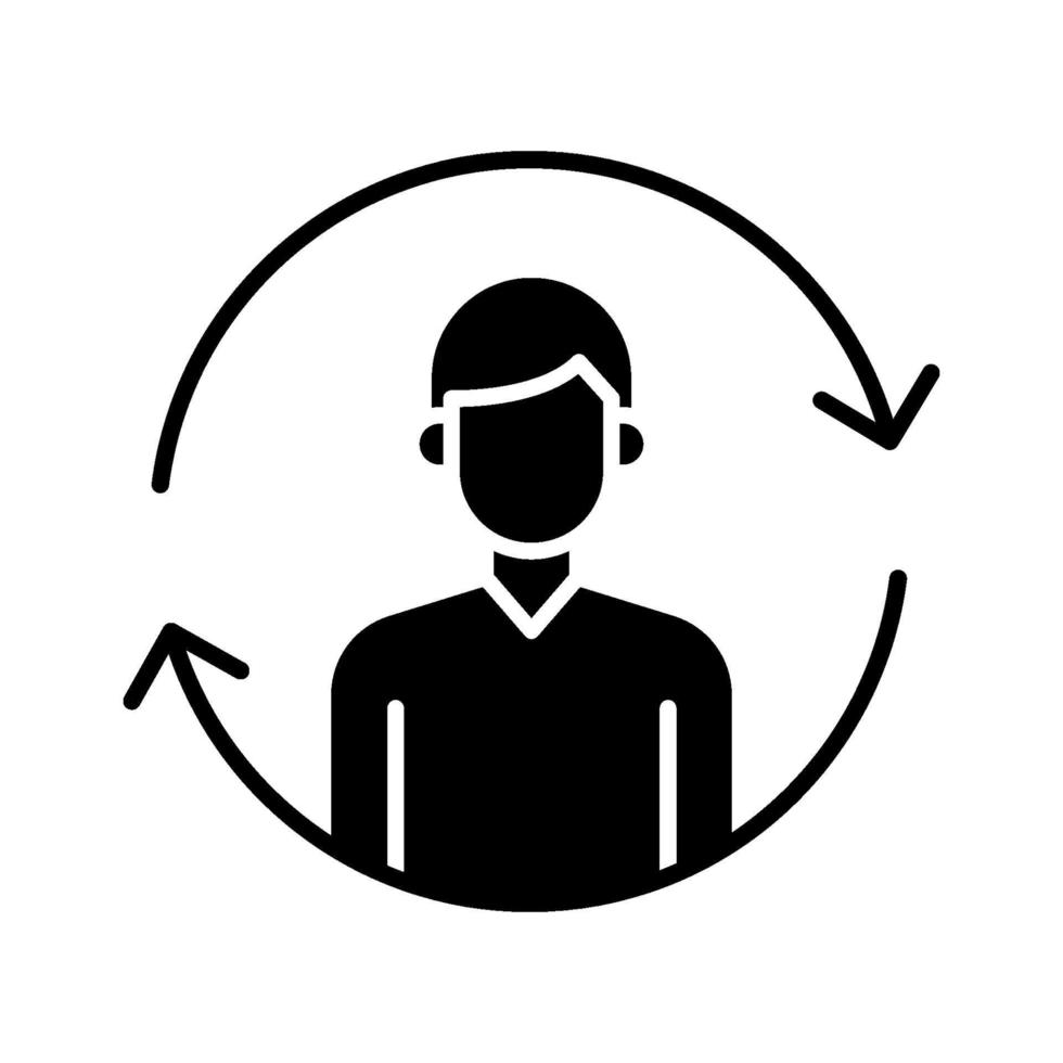 icona di sincronizzazione dell'utente vettore