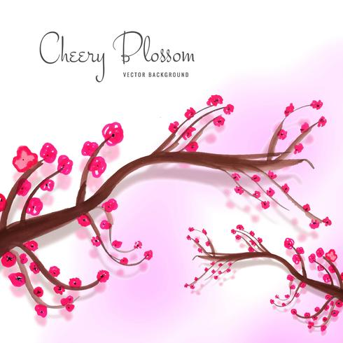 Sfondo decorativo moderno fiore di ciliegio vettore