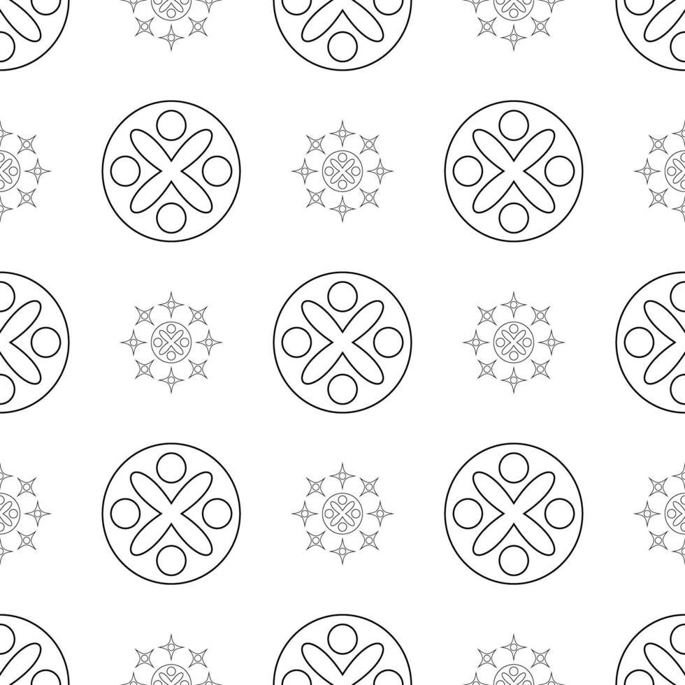ornamento geometrico senza cuciture in bianco e nero vettore