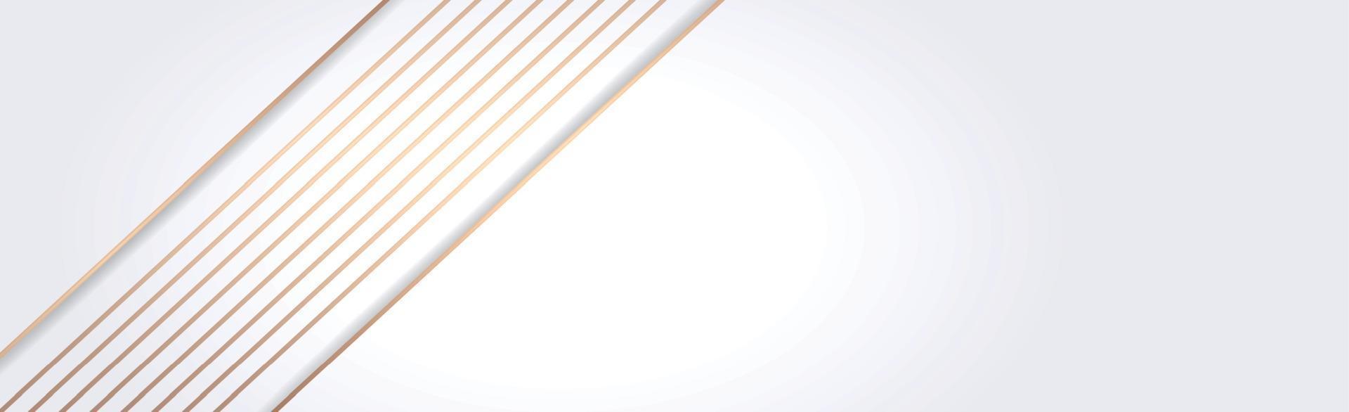 sfondo panoramico vettoriale bianco con linee rette e ombre