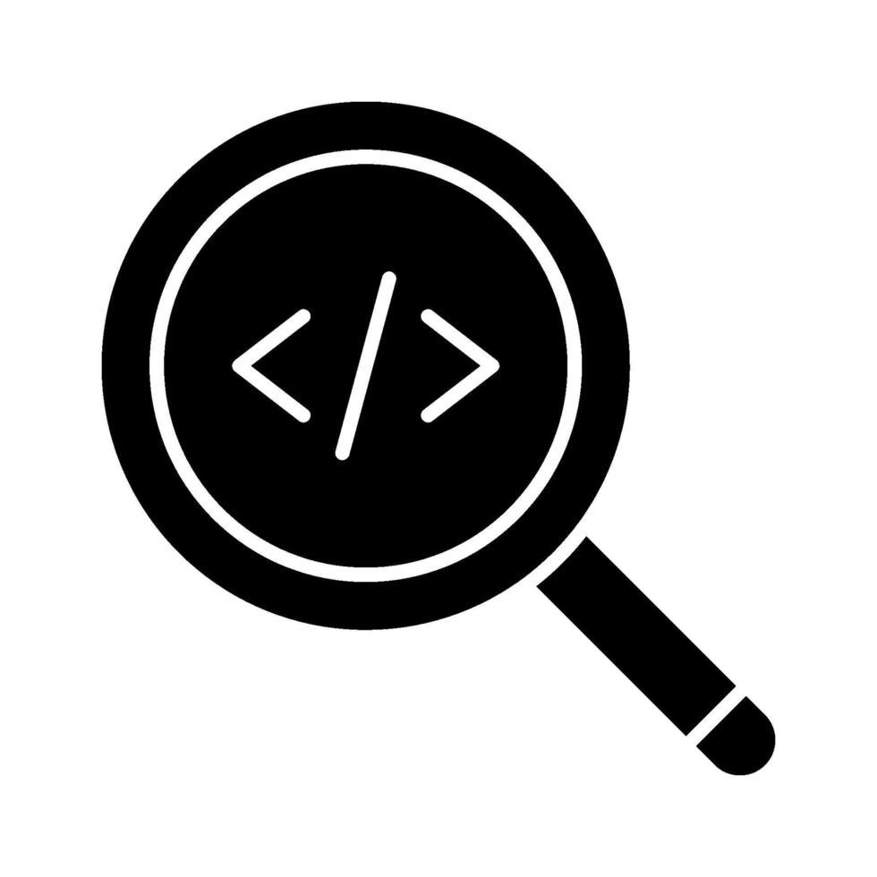 icona del codice di ricerca vettore