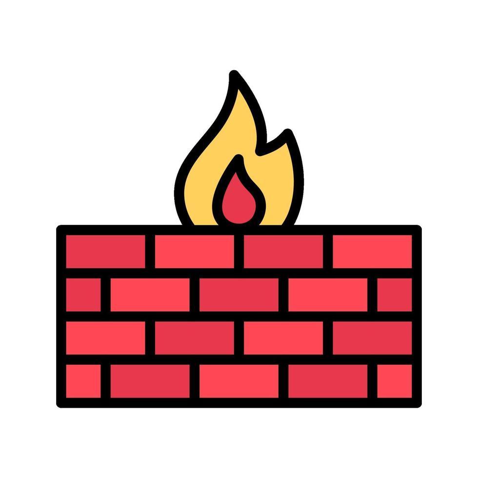 icona di vettore del firewall