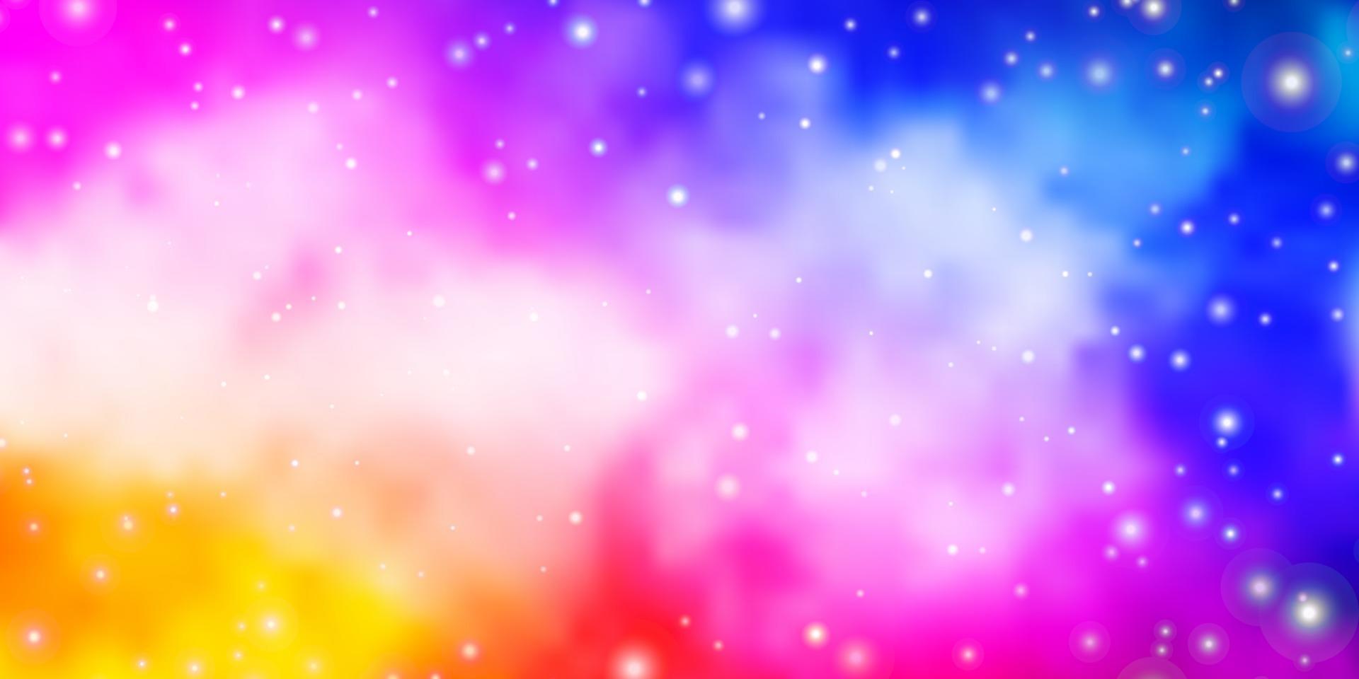 trama vettoriale rosa chiaro, blu con bellissime stelle.