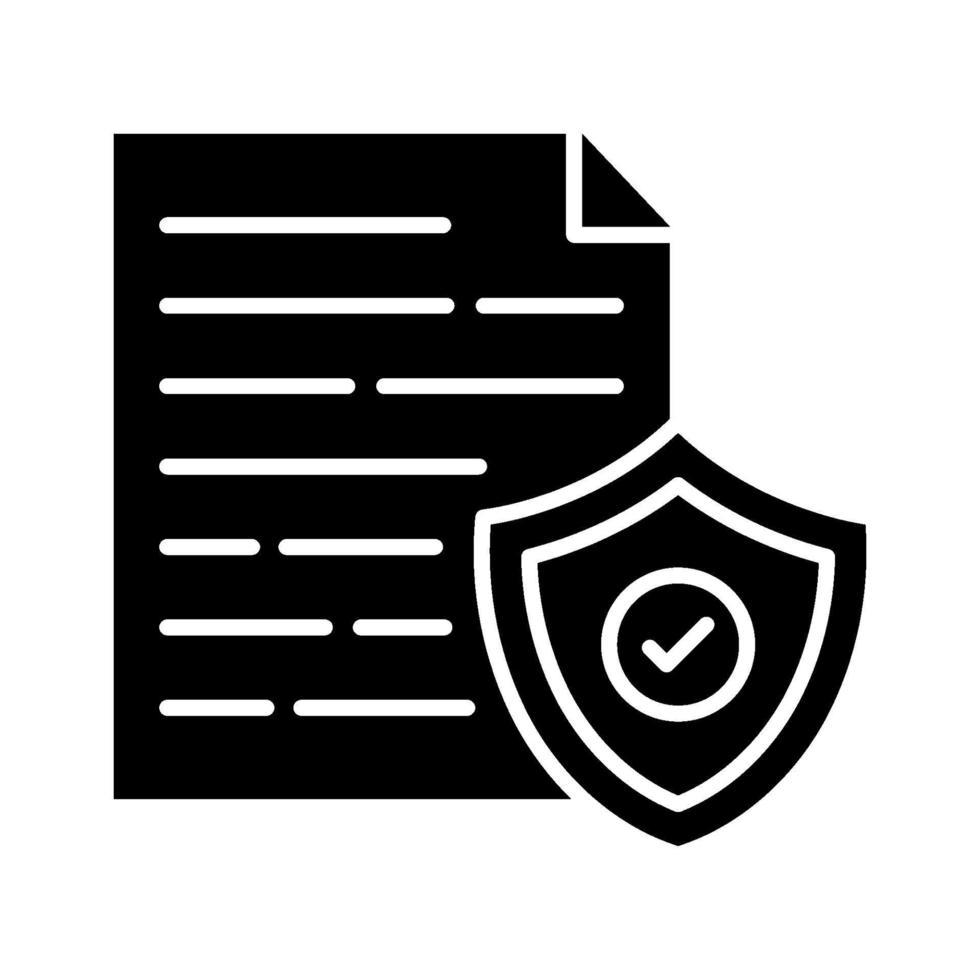 icona del documento sicuro vettore