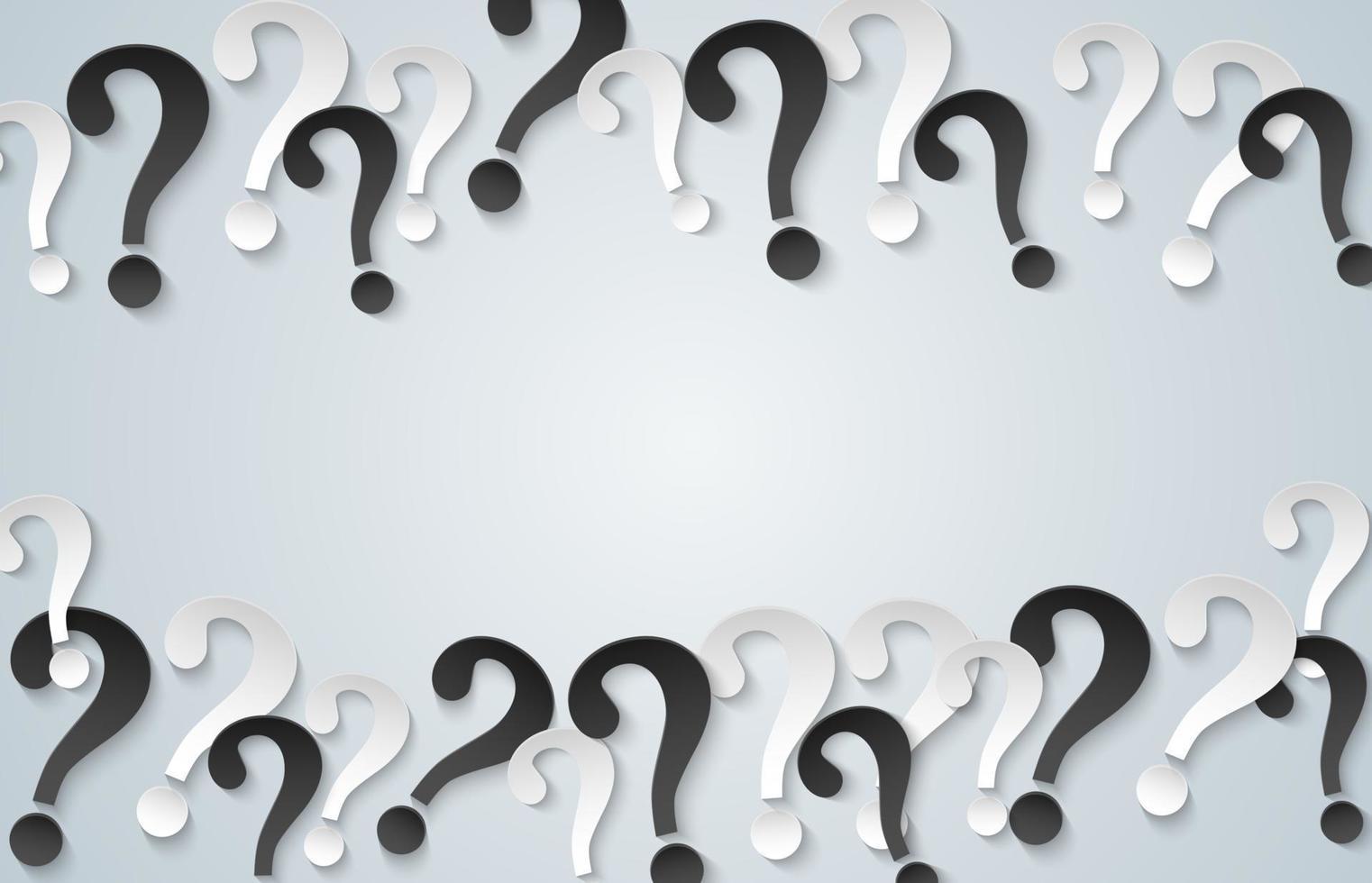 punto interrogativo su sfondo bianco. stile di arte della carta. vettore. vettore