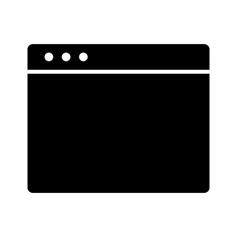 icona di vettore del browser