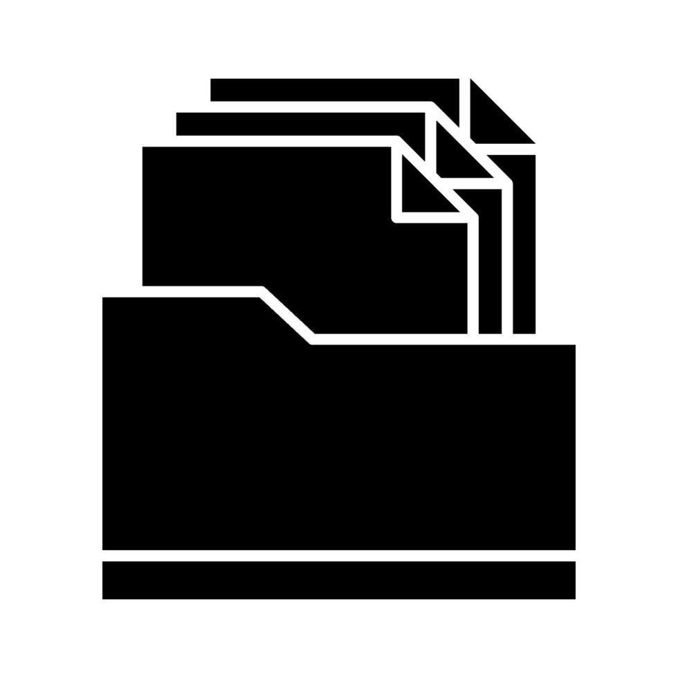 icona della cartella di file vettore