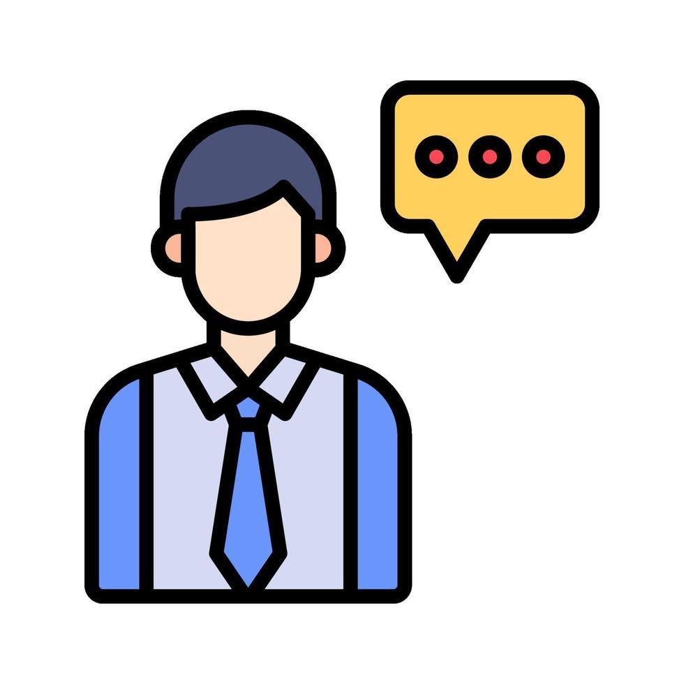 icona di vettore del consulente