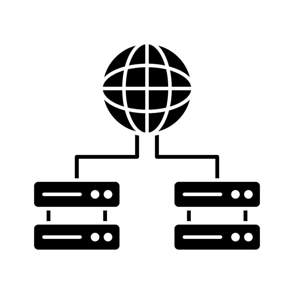 icona di server globali vettore