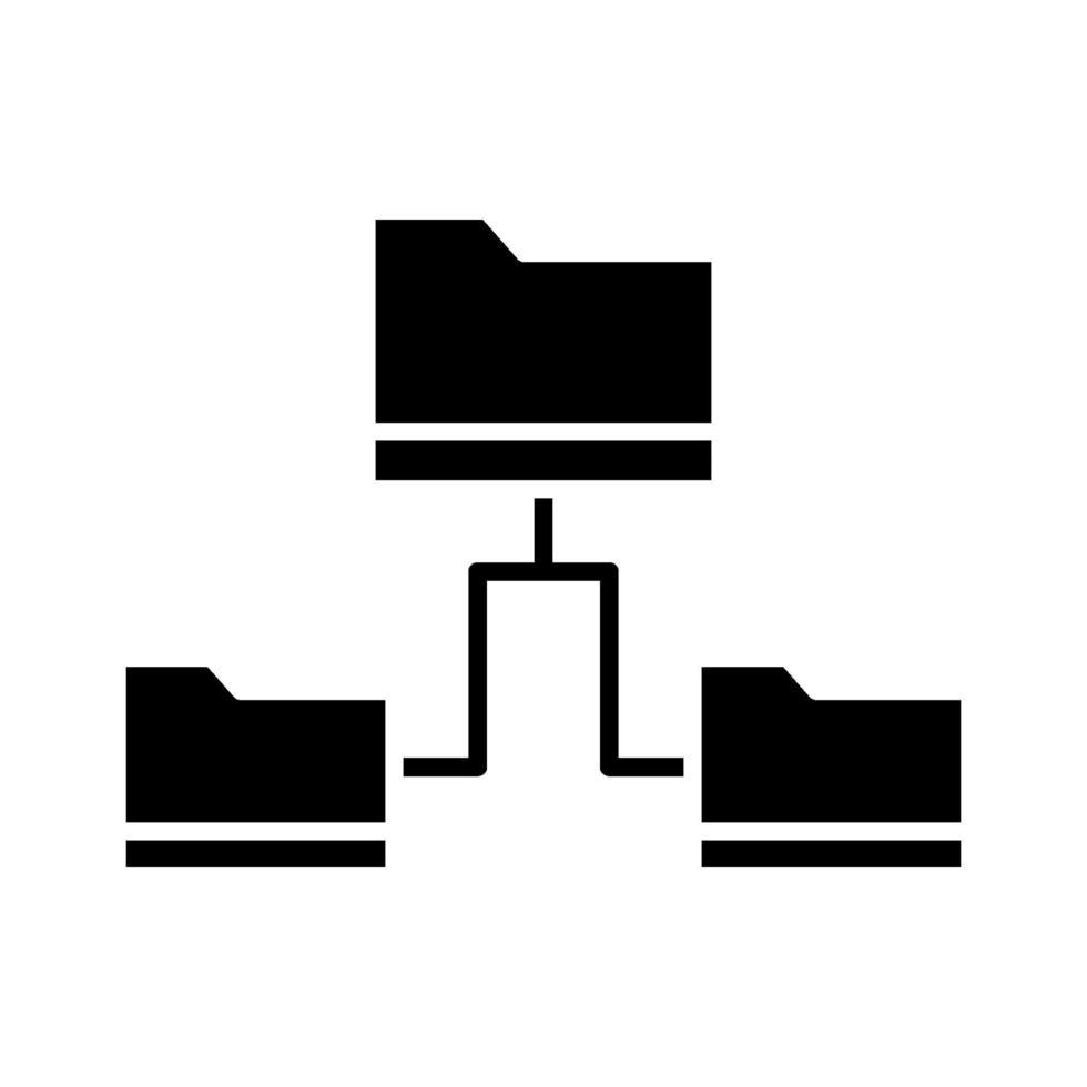 icona di condivisione dei dati delle cartelle vettore