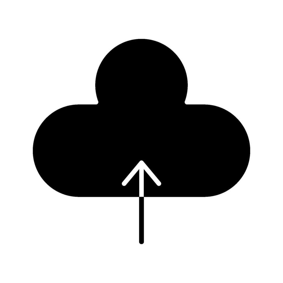 icona di caricamento nel cloud vettore