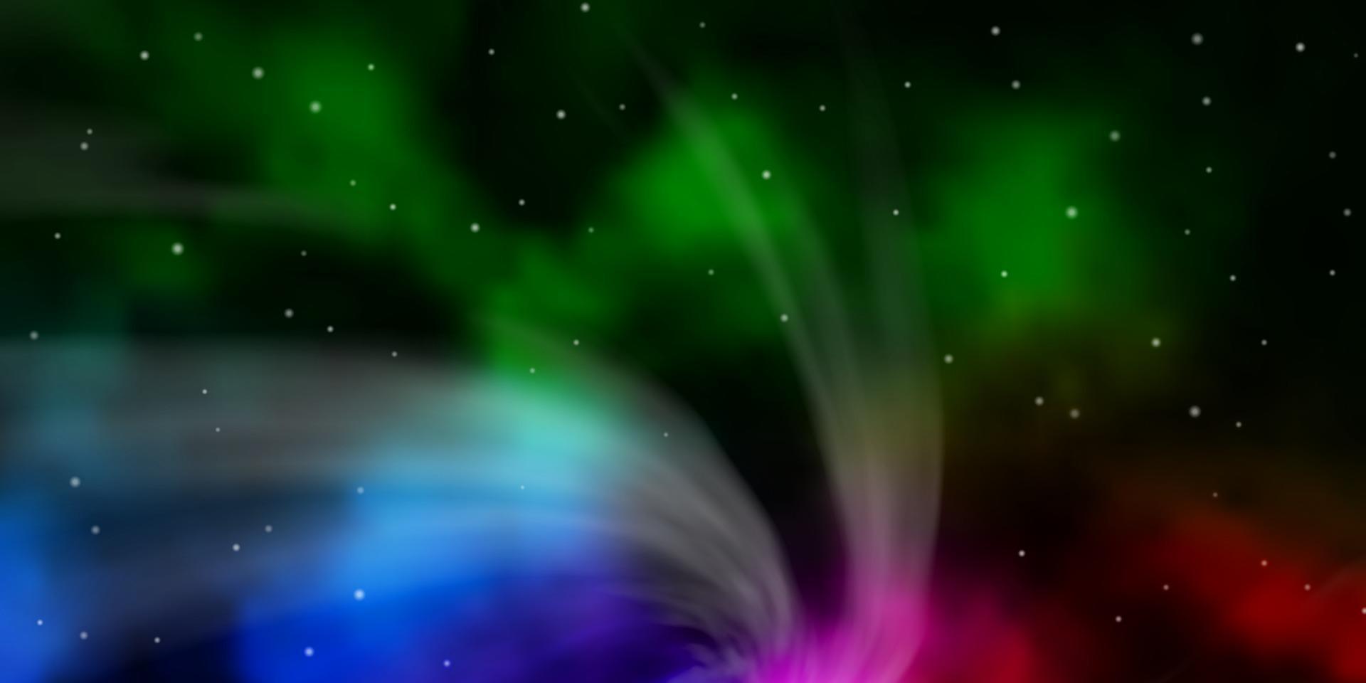 trama vettoriale rosa scuro, verde con bellissime stelle.