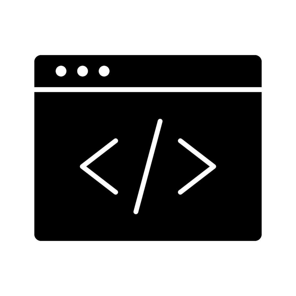 icona di vettore di programmazione