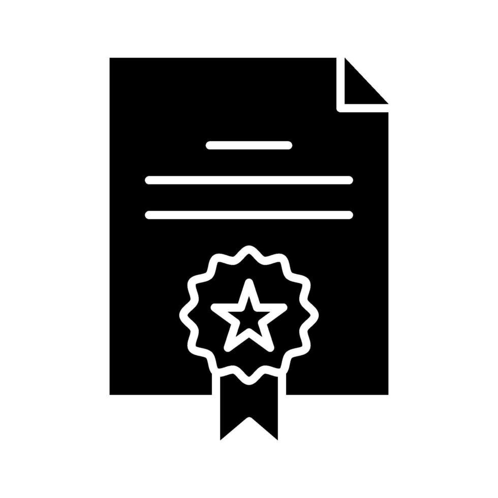 icona di vettore del certificato
